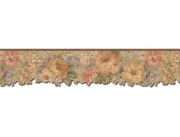5 1/2 in x 15 ft Prepasted Wallpaper Borders - Roses Wall Paper Border 67100DC