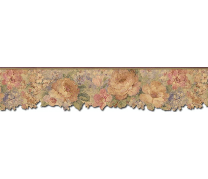 Floral Wallpaper Borders: Roses Wallpaper Border 67100DC