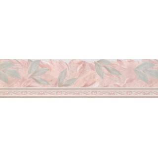 5 3/4 in x 15 ft Prepasted Wallpaper Borders - Floral Wall Paper Border Des67119DC