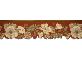 Prepasted Wallpaper Borders - Floral Wall Paper Border 67130DC
