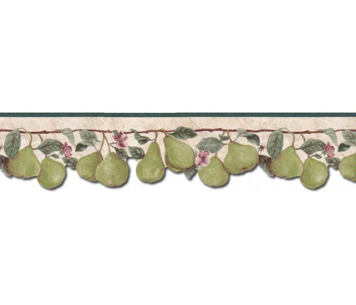 Clearance: Pear Fruits Wallpaper Border B71346
