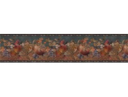 Prepasted Wallpaper Borders - Fruits Wall Paper Border B71956