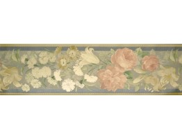 Prepasted Wallpaper Borders - Roses Wall Paper Border 72793