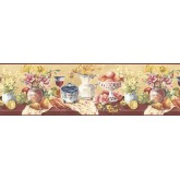 Clearance Fruits and Flowers Wallpaper Border KB73452 S.A.MAXWELL CO.