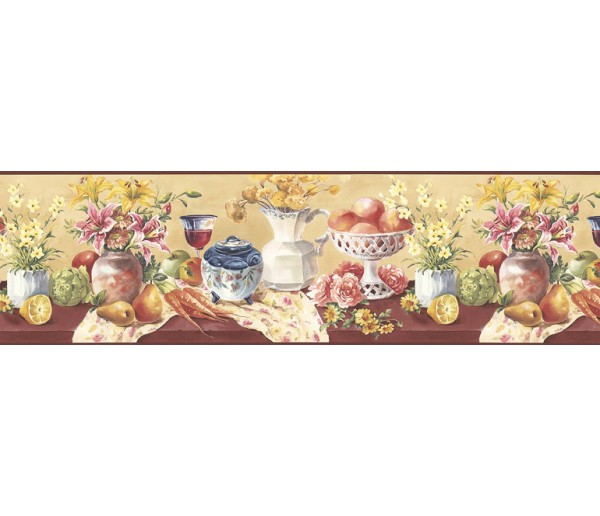 Clearance Fruits and Flowers Wallpaper Border KB73452