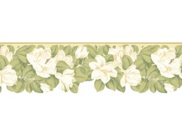 8 3/4 in x 15 ft Prepasted Wallpaper Borders - Floral Wall Paper Border B73657