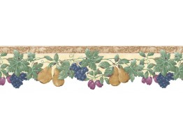 Prepasted Wallpaper Borders - Fruits Wall Paper Border B74239