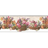 Floral Wallpaper Borders: Floral Wallpaper Border B74240