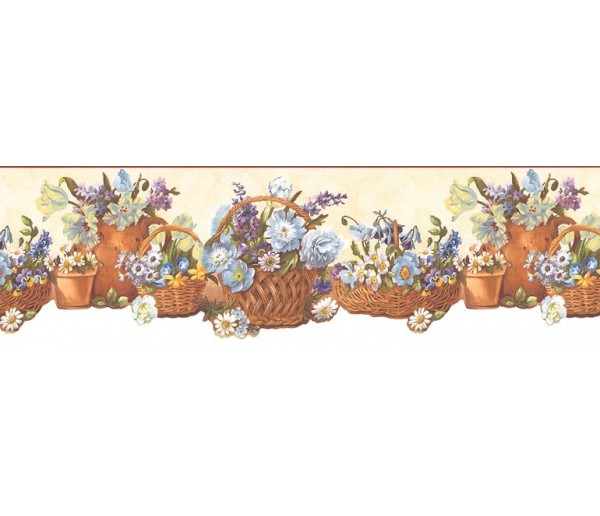 Floral Wallpaper Borders: Floral Wallpaper Border B74242