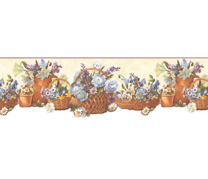 Floral Wallpaper Borders: Floral Wallpaper Border B74242