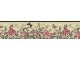 Prepasted Wallpaper Borders - Roses Wall Paper Border B74356