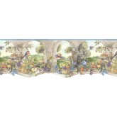 Prepasted Wallpaper Borders - Country Wall Paper Border KS74359DC