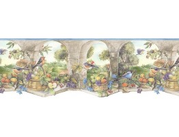 8 3/4 in x 15 ft Prepasted Wallpaper Borders - Country Wall Paper Border KS74359DC