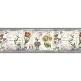 Floral Wallpaper Borders: Floral Wallpaper Border B74360