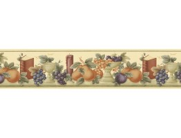 Prepasted Wallpaper Borders - Fruits Wall Paper Border B74361