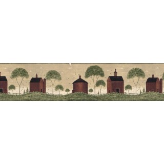 7 in x 15 ft Prepasted Wallpaper Borders - Country Wall Paper Border B74751