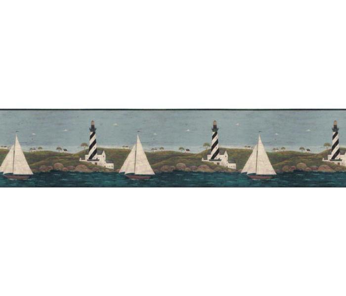 Lighthouse Wallpaper Borders: Light House Wallpaper Border WK74753