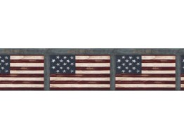 Prepasted Wallpaper Borders - Flag Wall Paper Border B74773
