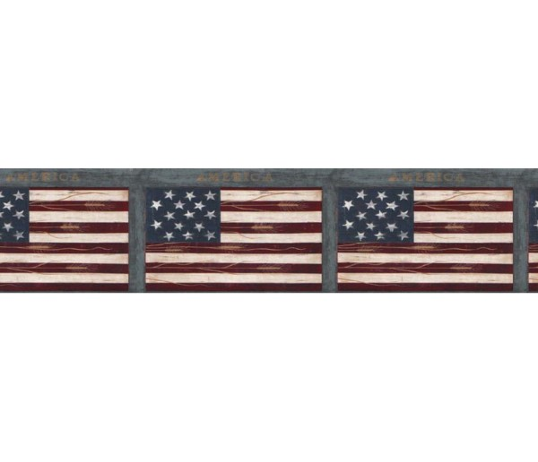 Novelty Borders Flag Wallpaper Border B74773