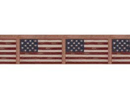 7 in x 15 ft Prepasted Wallpaper Borders - Flag Wall Paper Border WK74774