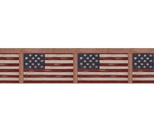 Clearance: Flag Wallpaper Border WK74774