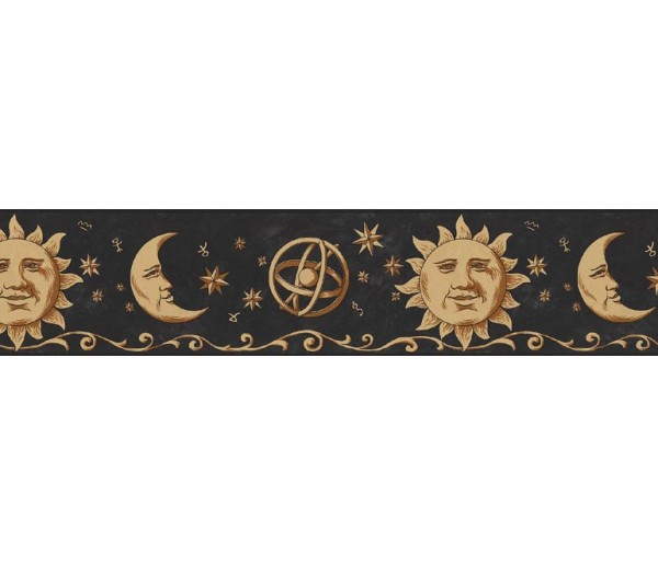 Sun Moon Stars Borders Sun, Moon and Stars Wallpaper Border B75055 S.A.MAXWELL CO.