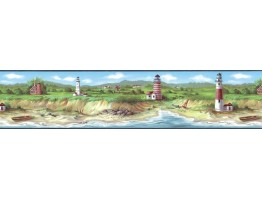 Prepasted Wallpaper Borders - Light House Wall Paper Border KB75506