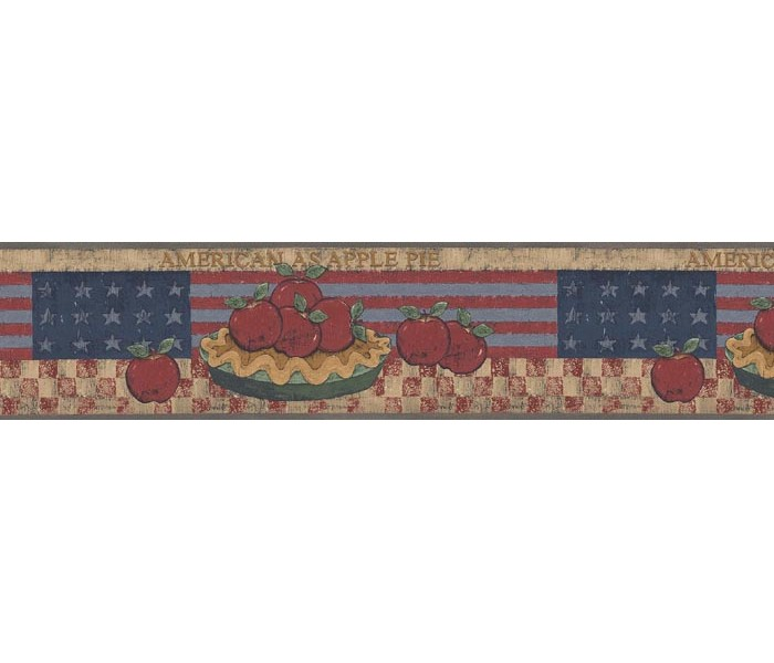 Clearance: Apple Fruits Wallpaper Border B75692