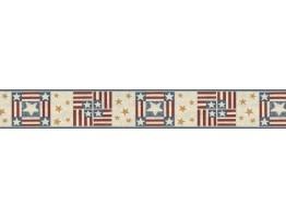 Prepasted Wallpaper Borders - Stars Wall Paper Border B75696