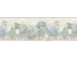 Prepasted Wallpaper Borders - Floral Wall Paper Border b75701