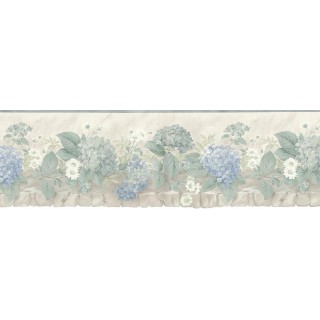 9 5/8 in x 15 ft Prepasted Wallpaper Borders - Floral Wall Paper Border b75701
