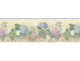Prepasted Wallpaper Borders - Floral Wall Paper Border b75702