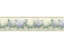 Prepasted Wallpaper Borders - Floral Wall Paper Border b75727