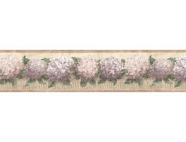 Prepasted Wallpaper Borders - Floral Wall Paper Border b75728