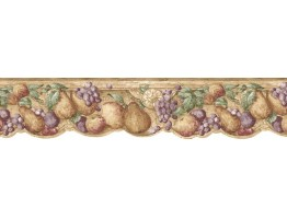 6 5/8 in x 15 ft Prepasted Wallpaper Borders - Fruits Wall Paper Border b75729