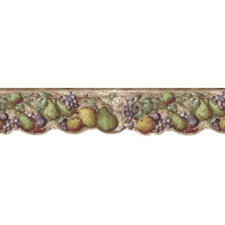 6 5/8 in x 15 ft Prepasted Wallpaper Borders - Fruits Wall Paper Border b75730