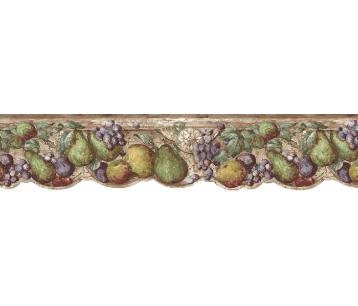 Clearance: Fruits Wallpaper Border b75730
