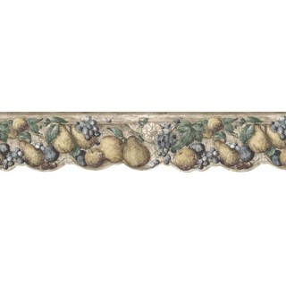 6 5/8 in x 15 ft Prepasted Wallpaper Borders - Fruits Wall Paper Border b75731