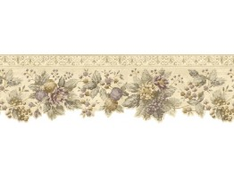 Prepasted Wallpaper Borders - Floral Wall Paper Border b75741