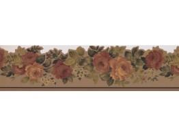 Prepasted Wallpaper Borders - Roses Wall Paper Border 79112DC