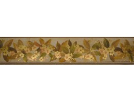 Prepasted Wallpaper Borders - Floral Wall Paper Border 79801