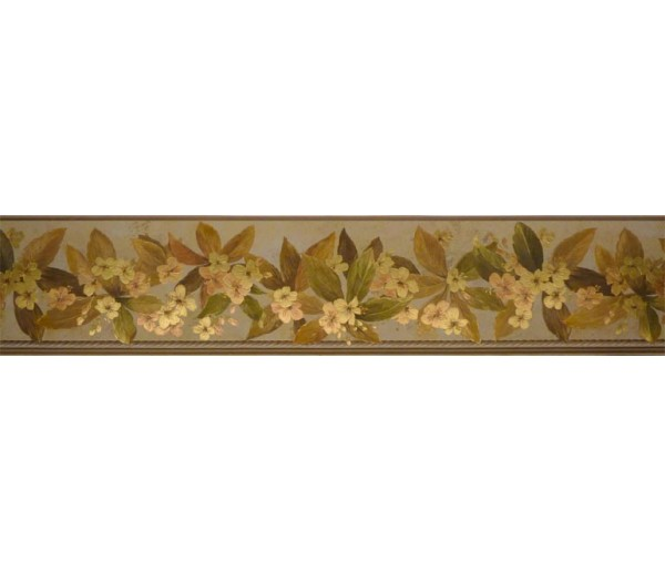 Clearance: Floral Wallpaper Border 79801