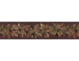 Prepasted Wallpaper Borders - Floral Wall Paper Border 79803