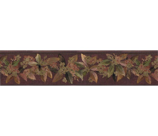 Clearance: Floral Wallpaper Border 79803