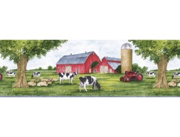 8 1/2 in x 15 ft Prepasted Wallpaper Borders - Animals Wall Paper Border TRY8721