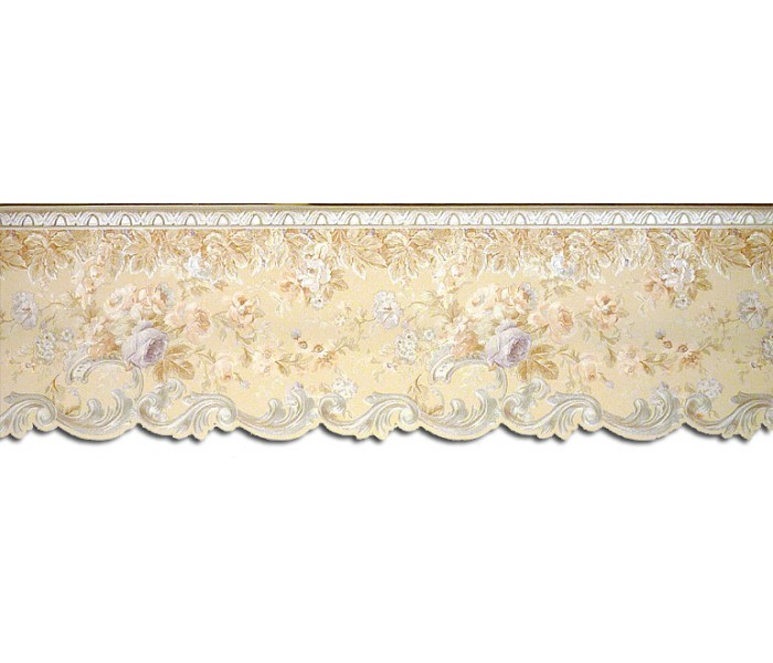Clearance: Floral Wallpaper Border 87955DC