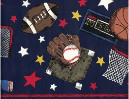 Sports Wallpaper Border B95837