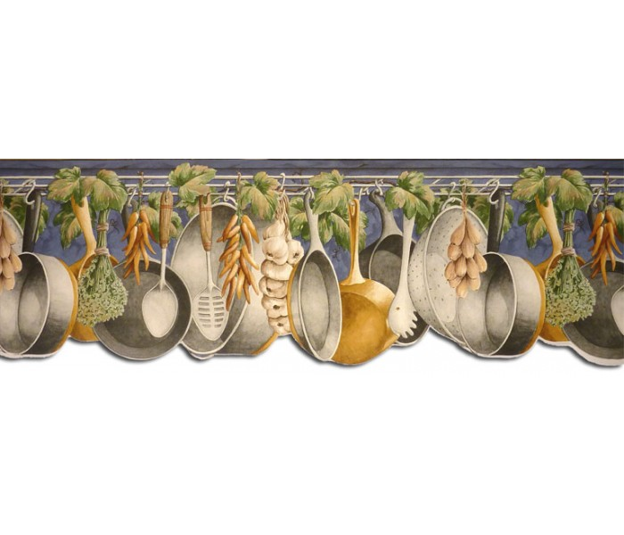 Clearance: Kitchen Wallpaper Border GS96035DB