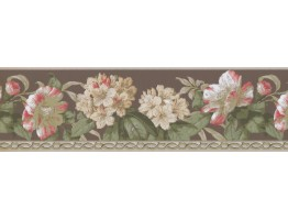 Prepasted Wallpaper Borders - Floral Wall Paper Border 4629 BA
