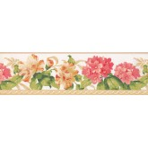 Floral Wallpaper Borders: Floral Wallpaper Border 4630 BA